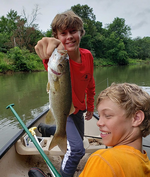 River Mountain Retreat Fishing with the Boys