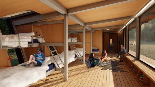 Circadian Rhythm Cabin Interior