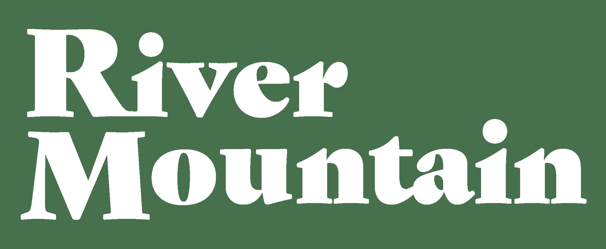 River Mountain Retreat - Logo White