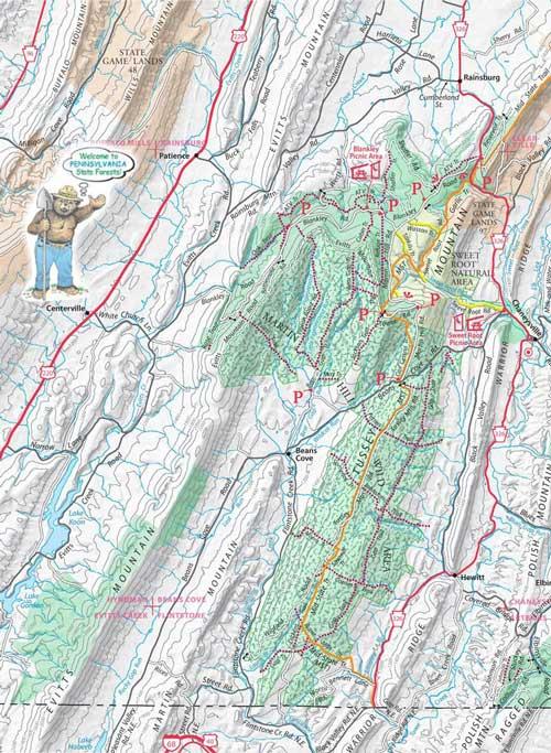 Buchanan State Forest Camp River Mountain Map Washington DC