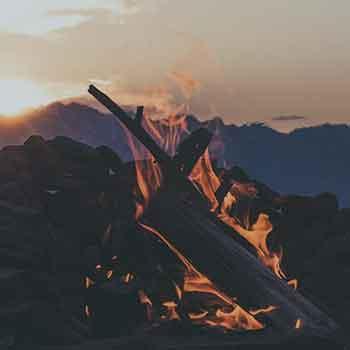 Campfire Bonfire River Mountain Retreat Pennsylvania Washington DC