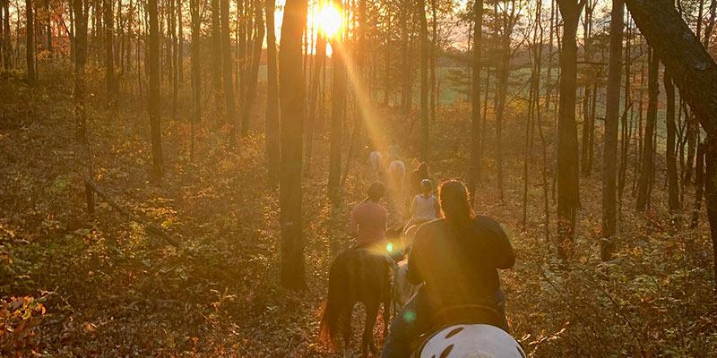 Horseback riding near River Mountain cabin rentals Pennsylvania