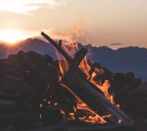 Pennsylvania Glamping Camp fire Bonfire