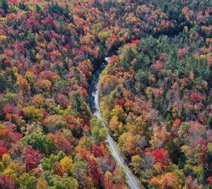 Fall Foliage River Mountain Glamping Getaway Vacation Bedford Pennsylvania